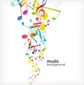 Abstract background with tunes. — Stock Vector