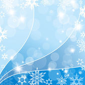 Abstract background with snowflakes. Vector — Stock Vector