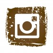 Old web Instagram Icon — Stock Vector #74378655