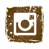 Oude web Instagram pictogram — Stockvector