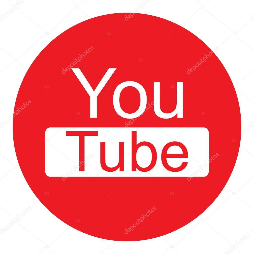 Youtube logo round png