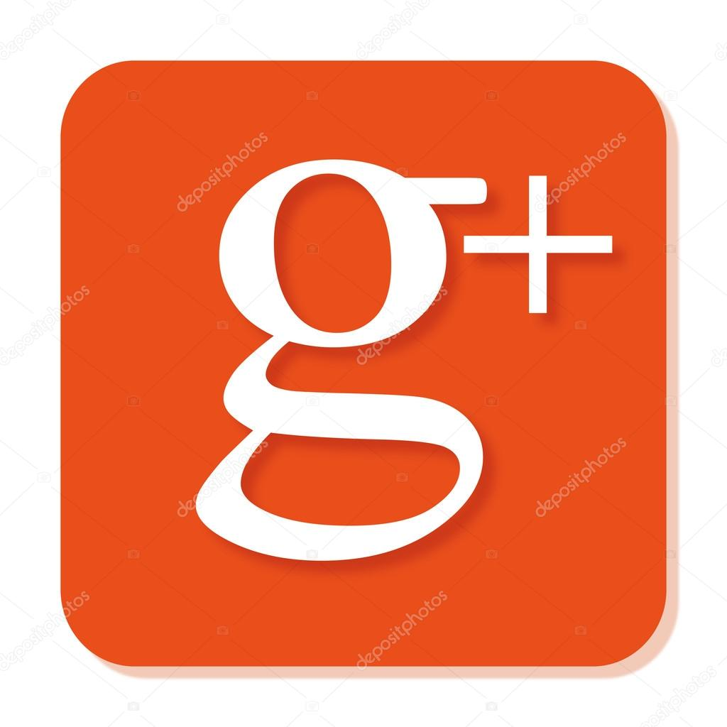 orange google plus icon with smooth blur and shadow stock vector bigxteq 88082384. Black Bedroom Furniture Sets. Home Design Ideas