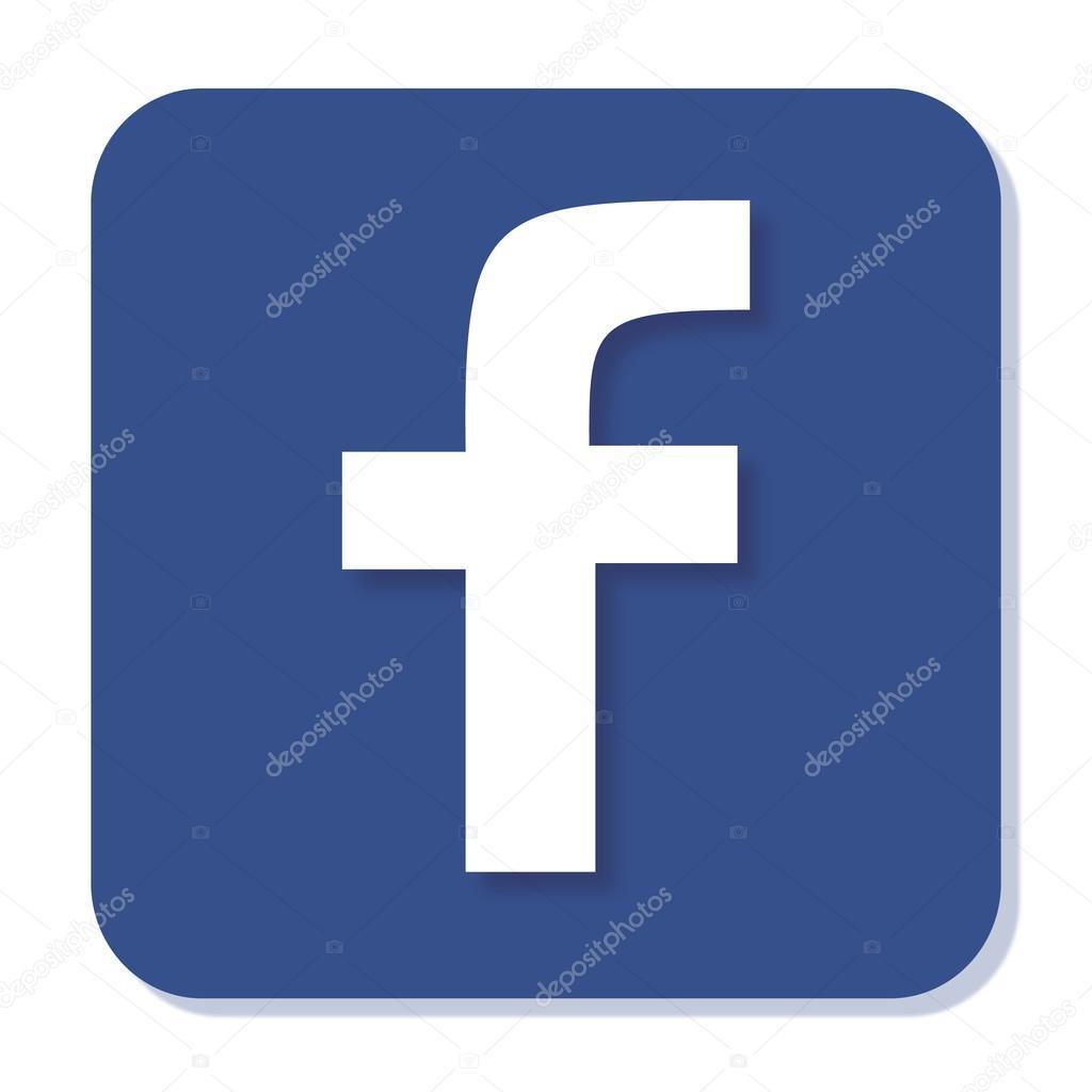 bleu ic u00f4ne facebook avec flou lisse et ombre  u2014 image vectorielle bigxteq  u00a9  88082394