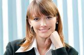 Affärskvinna på kontor — Stockfoto