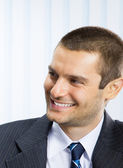 Gelukkig lachend jonge zakenman — Stockfoto