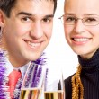 Businesspeople or couple with champagne — Stock Photo #53939047