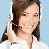 Support phone operator in headset — Foto de Stock