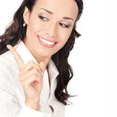 Businesswoman showing — Stock Photo