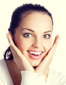 Very happy young woman — Stock Photo