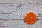 Orange reflex reflector — Stock Photo