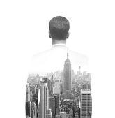 Businessman in suit — Stock Photo