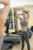 Beautiful Fit Women exercise in the gym. — Stock Photo