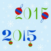 New year 2015 text design — Stock Vector