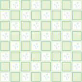 Gentle floral seamless checkered wallpaper pattern — 图库矢量图片