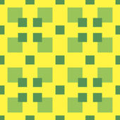 Abstract seamless geometric pattern. Green and yellow colors — Vecteur