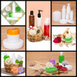 Spa and body care cosmetics and accessories collage — Stock Photo #58152321