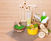 Accessories for peeling and spa — Stock Photo
