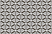 Black and white seamless diamond facets pattern — Stock Vector