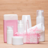 Different cosmetic products — Stock Photo