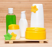Different cosmetic products for body care — Stock Photo