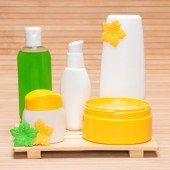 Different cosmetic and spa products — Stockfoto