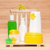 Different cosmetic and spa products — Stock Photo