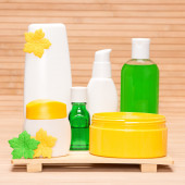 Different cosmetic products for body care — Stockfoto
