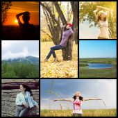 Communion with nature collage — Stockfoto