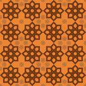 Luxury fiery orange floral pattern — Stockvektor