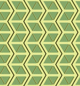 Beautiful seamless pattern of zigzags and triangles — Stock Vector