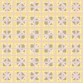 Abstract geometric seamless pattern of interlocking bands — Vector de stock