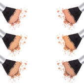 Different shades of loose cosmetic powder — Stockfoto