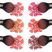 Different shades of powder blush — Stock Photo