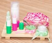 Kosmetik für Lippen Hautpflege — Stockfoto