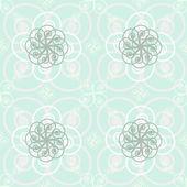 Mooie elegante afdruk van rond bloeit in fijne plakken — Stockvector