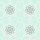 Beautiful elegant print of roundish flourishes in delicate paste — Stock Vector