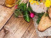 Biologische landbouw voedsel — Stockfoto