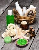 Spa en verwennerij producten en accessoires — Stockfoto