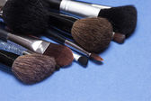 Different makeup brushes — Stockfoto