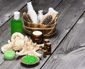 Spa and pampering products and accessories — Stock Photo