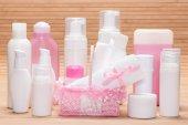Grote set van cosmetische producten voor huidverzorging — Stockfoto