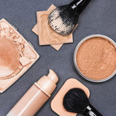 Set of makeup products to even out skin tone and complexion — Stock Photo
