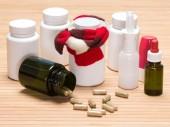 Conjunto de varios remedios fríos — Foto de Stock