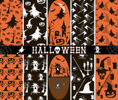 10 seamless spooky Halloween patterns — Stock Vector
