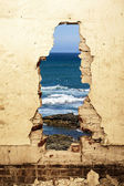 Dilapidated ocean view. — Stock Photo
