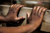 African hands. — Stock Photo