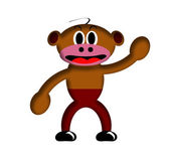 Cartoon Monkey. — Stock Photo