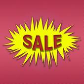 Cartoon style sale illustration. — Stock Photo