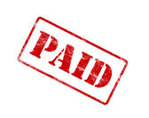 PAID red stamp. — Stock Photo