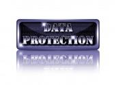 Veri koruma düğmesi. — Stok fotoğraf